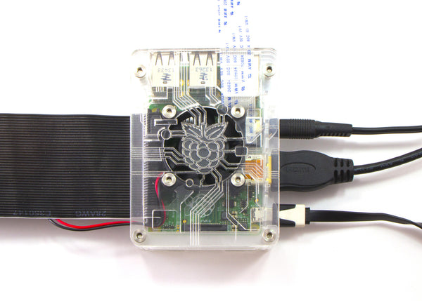 Zebra Virtue - Black Ice - for Raspberry Pi 3, Pi 2 and Pi B+ (with fan)