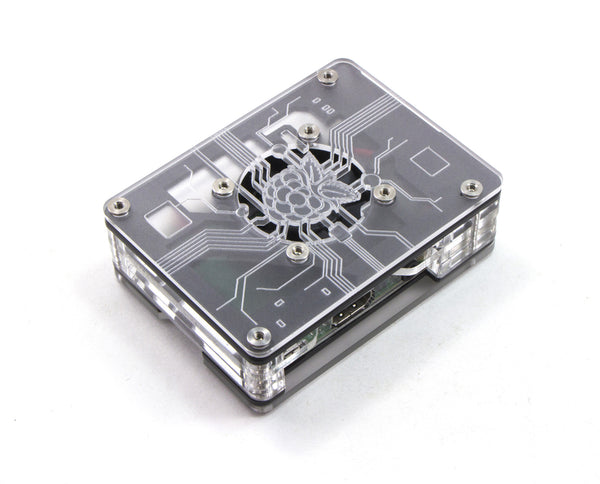 Zebra Virtue - Black Mist - for Raspberry Pi 3, Pi 2 and Pi B+ (with fan)