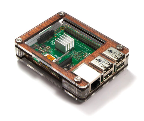 Zebra Wood Case With Power Supply For Raspberry Pi 3b 3 Pi 2
