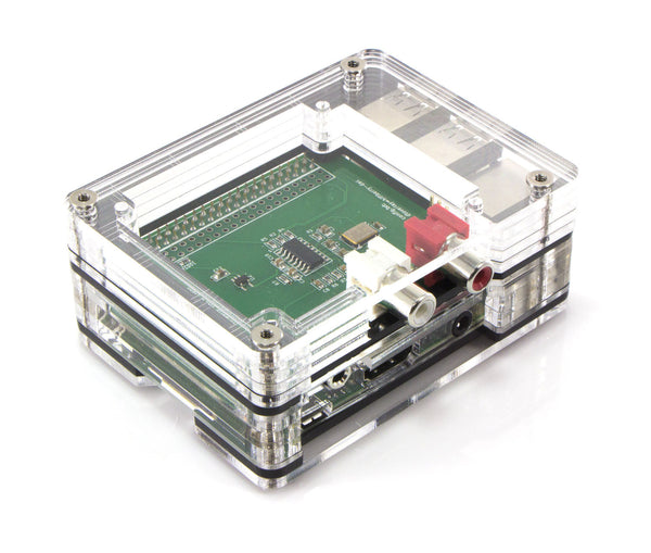 Zebra Black Ice TOP HAT CASE for the Raspberry Pi 3, Pi 2 ~ Short or Tall