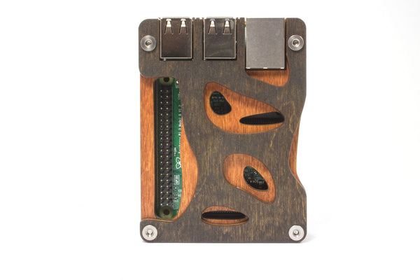 Zebra Bio Case (All Wood) for the Raspberry Pi 3, Pi2, and Pi B+