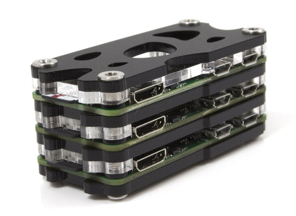 Triple Stack Zero Case for the Raspberry Pi Zero 1.2, 1.3 and the Zero-W