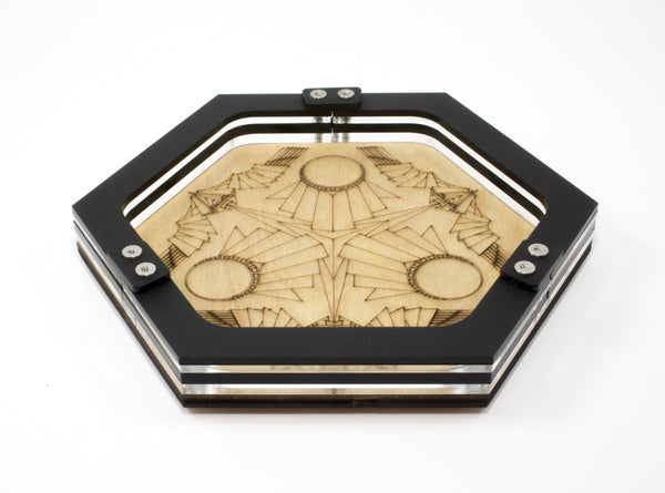 Mini Art Deco Dice Tray ~ by C4Labs Perfect for Table Top Gamers