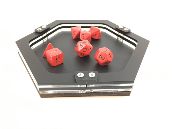 Mini Personal Sized UMBRA Dice Tray with Faux Leather Base
