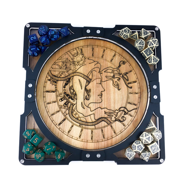 PARTY TRAY - Steam Punk Dice Tray Great for Group Gamers