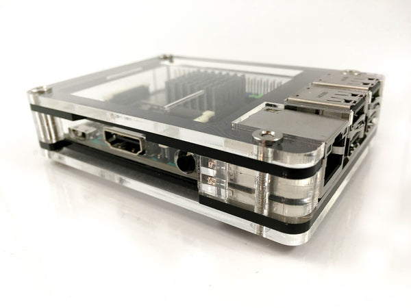 Zebra Black Ice Case for the ASUS Tinker Board by C4Labs