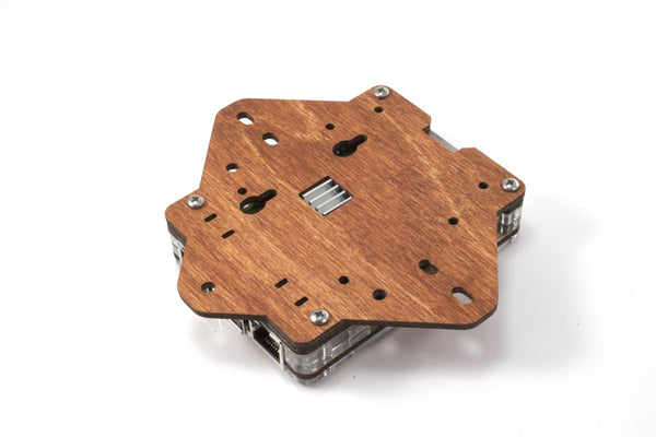Zebra VESA Mounting Plate - (Wood) for Raspberry Pi 3, Pi 2, and Pi B+