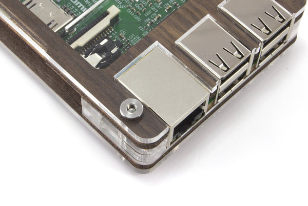 Zebra Walnut Case for Raspberry Pi 3, Pi 2, Pi B+ and Pi 2B