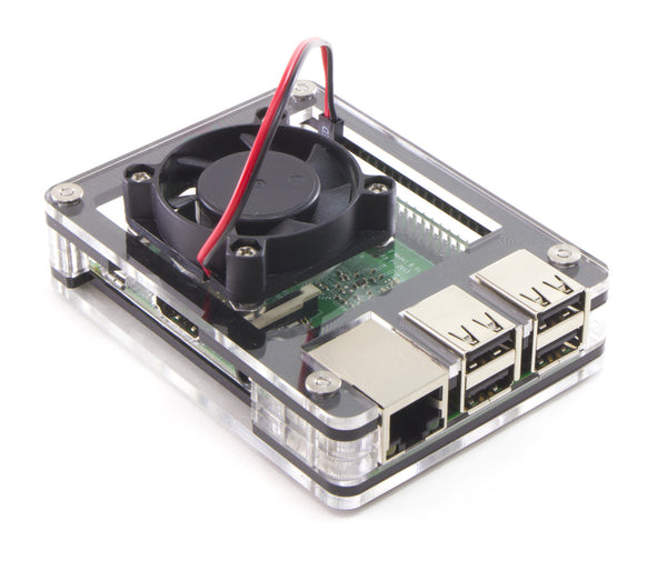 Zebra Black Ice ~ for Raspberry Pi 3, Pi 2 and Pi B+ (Fan upgrade optional)