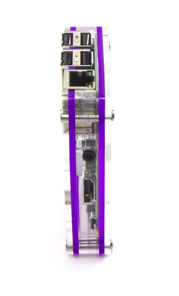 Zebra Royal Purple - for Raspberry Pi 3, Pi 2, Pi B+ and Pi 2B