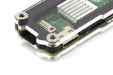 Zebra Zero Heatsink Black Ice Case for Raspberry Pi Zero 1.3 and Zero Wireless