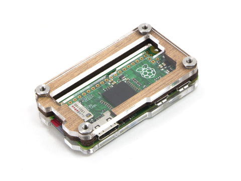 Zebra Zero GPIO Wood Case for Raspberry Pi Zero 1.3 & Zero Wireless