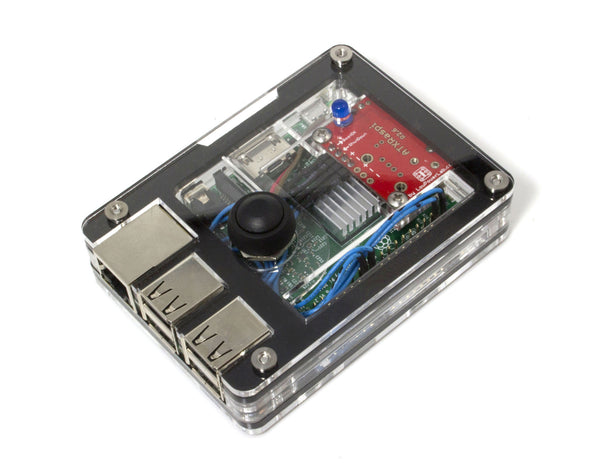 Zebra Power Button Case for Raspberry Pi and the ATXRaspi