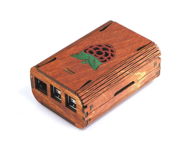 FlexPi Case for Raspberry Pi 3, Pi 2 and Pi B+ (Red Raspberry)