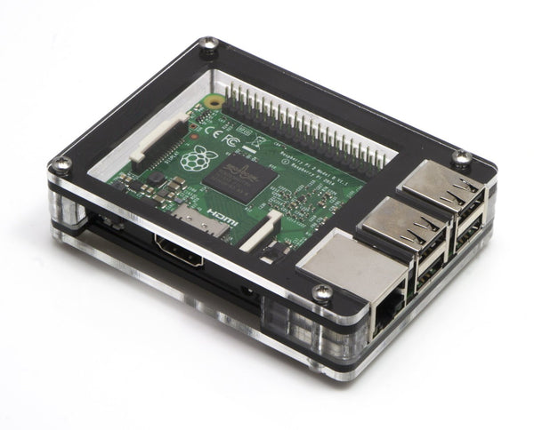 Zebra Solid Top Black Ice ~ for Raspberry Pi 3, Pi 2, Pi B+ and Pi 2B