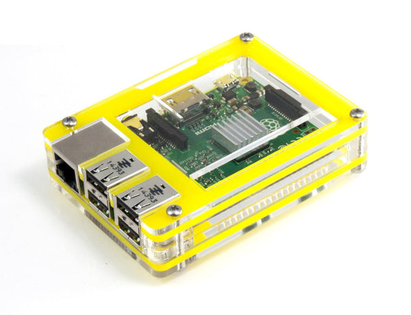 Zebra Tropical Yellow Case ~ Raspberry Pi 3, Pi 2, Pi B+ and Pi 2B
