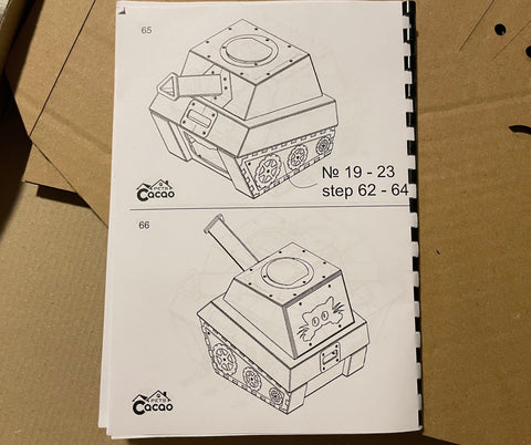 cacao pets cardboard cat tank instructions