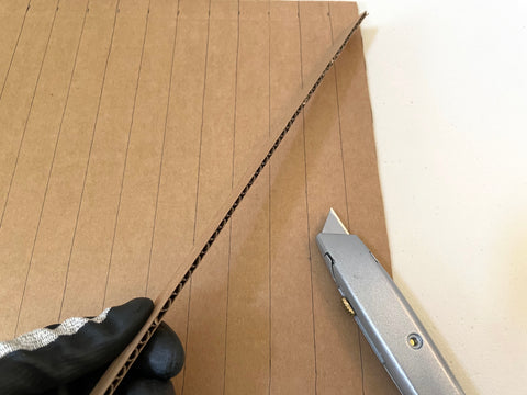 checking alignment of cardboard
