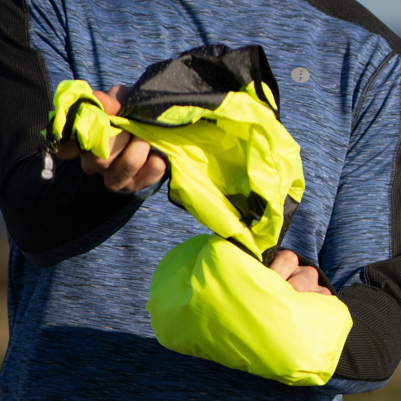 Packable Men's Reflective Vest in Flo Lime / Graphite