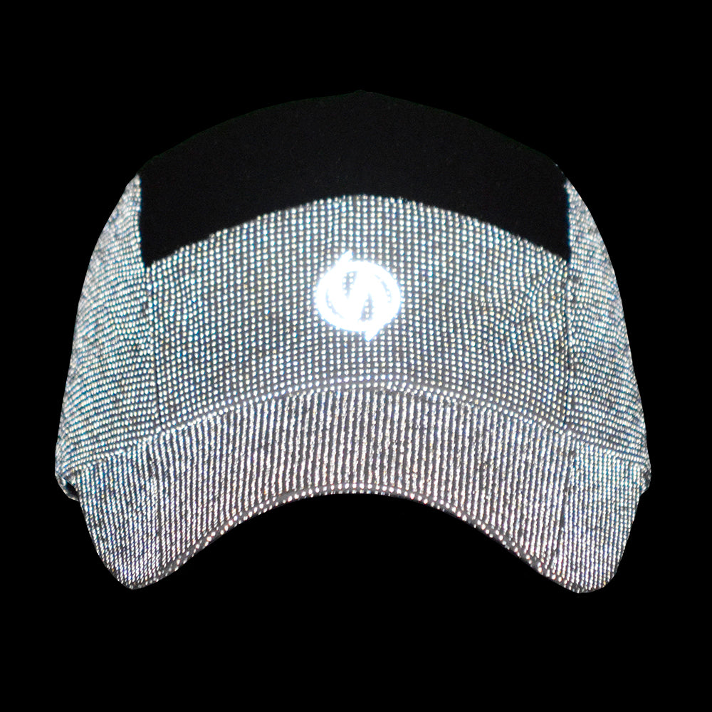 Unisex 10K Reflective Mesh Running Hat in White