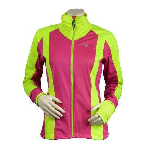 Falmouth Waterproof Reflective Women's Pullover Jacket in Honeydew/White