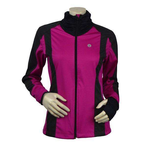 Albany Reflective Women's Softshell Jacket in Mulberry/Black