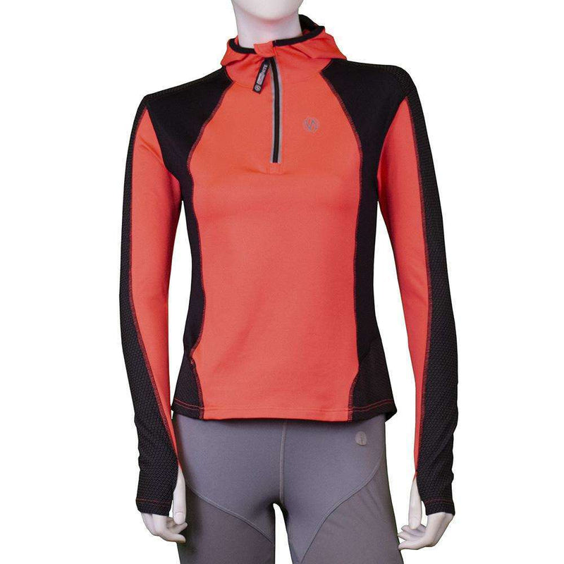 Ambition Reflective Women's Pullover in Coral Glo/Black