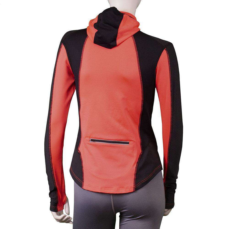 Ambition Reflective Women's Hoodie in Coral Glo Black