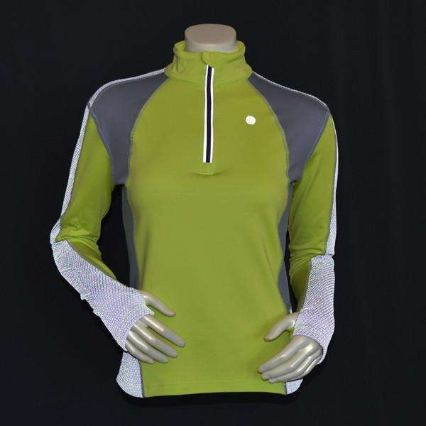 Ambition Reflective Women's Pullover in Honeydew/Silver