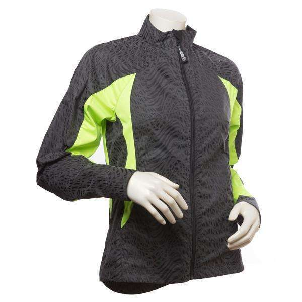 Bristol Women's Reflective Jacket in Black/Flo Lime