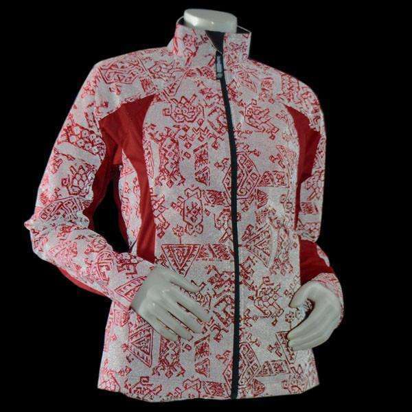 Bristol Women's Reflective Jacket in Red Aztec