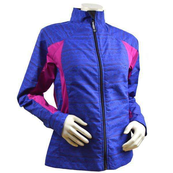 Bristol Women's Reflective Jacket in Royal Blue/Mulberry