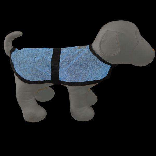 Cordura Reflective Dog Jacket in Blue