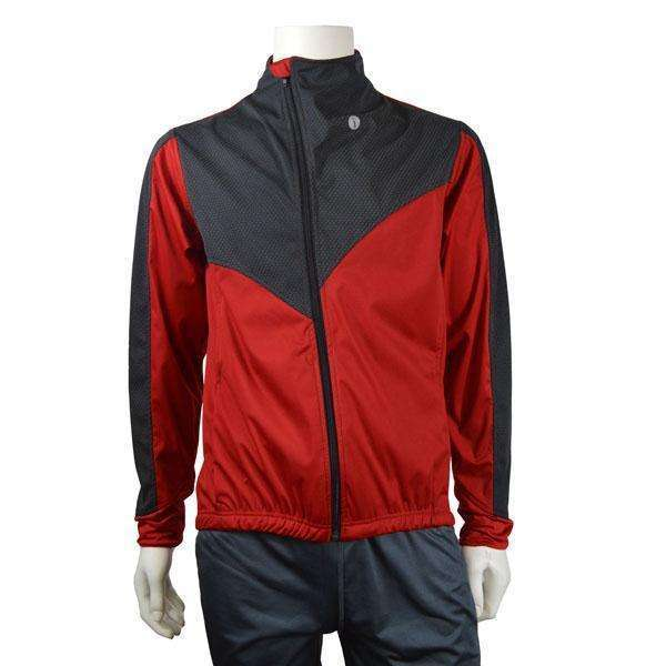 Denver Men's Softshell Jacket in Graphite/Red--CLEARANCE