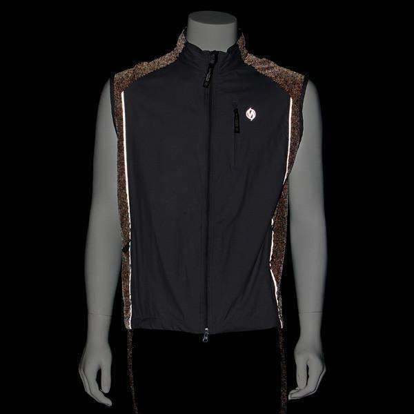 Endeavor Packable Men's Reflective Vest in Black/Silver--CLEARANCE