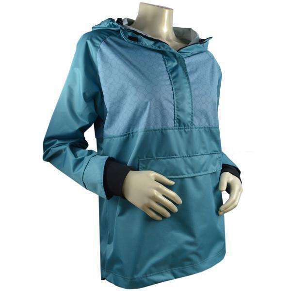 Falmouth Waterproof Reflective Women's Pullover Jacket in Ocean/Sea--CLEARANCE