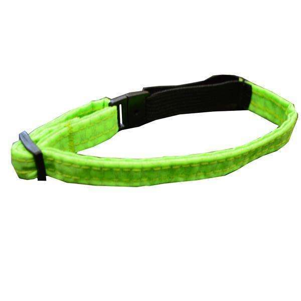Glow Cat Adjustable Reflective Cat Collar in Neon Green