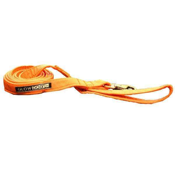 Glow Dog 6' Reflective Leash-Orange