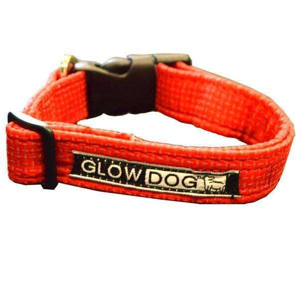 Glow Dog Adjustable Reflective Dog Collar in Red