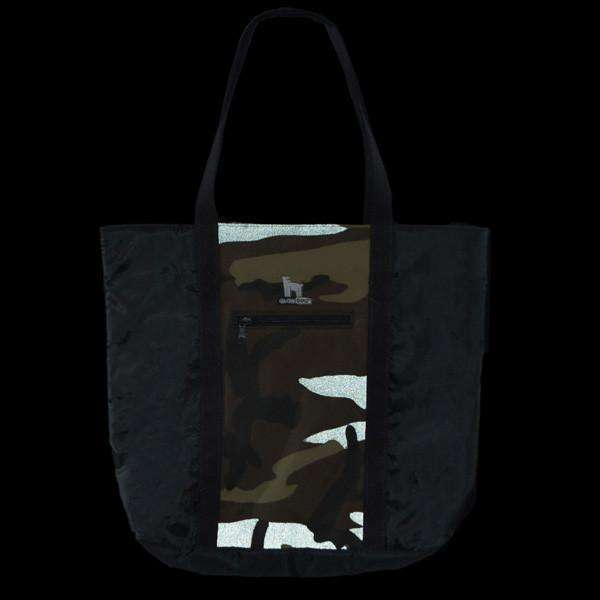 GlowDog Large Reflective Tote Bag in Camo