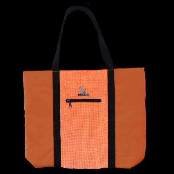 GlowDog Large Reflective Tote Bag in Safety Orange