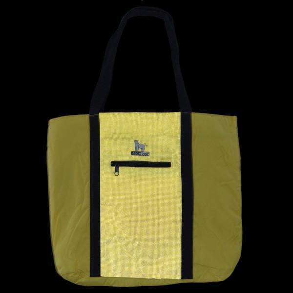 GlowDog Large Reflective Tote Bag in Yellow