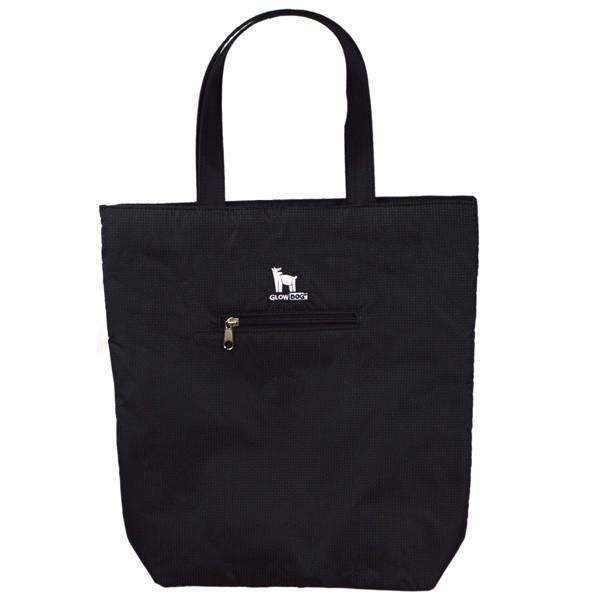 GlowDog Small Reflective Tote Bag in Black