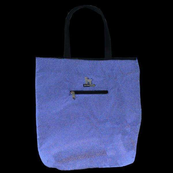 GlowDog Small Reflective Tote Bag in Blue