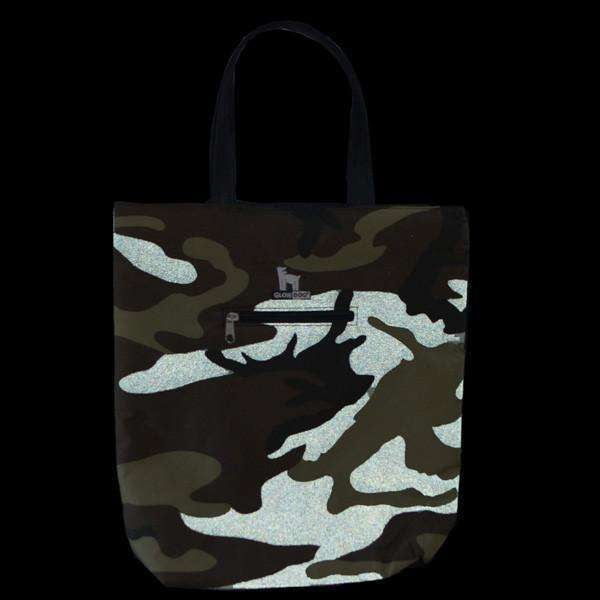 GlowDog Small Reflective Tote Bag in Camo