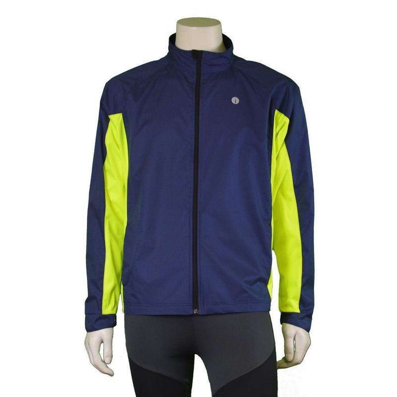 Hartford II Reflective Men's Jacket in Navy/Flo Lime
