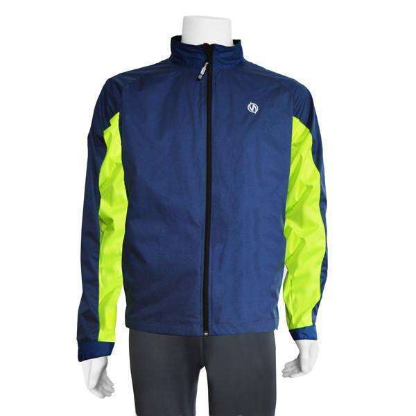 Hartford Reflective Men's Jacket in Navy/Flo Lime