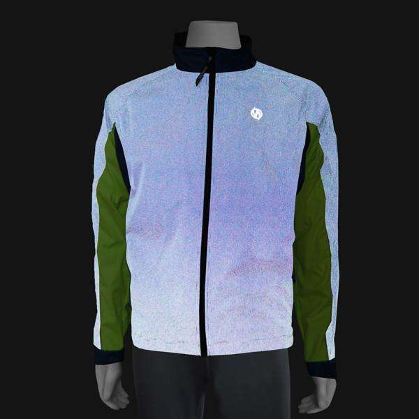 Hartford Reflective Men's Jacket in Navy/Flo Lime--CLEARANCE
