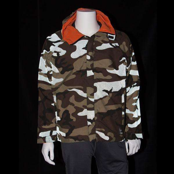 Hooded REVERSIBLE Unisex Reflective Jacket in Camouflage--CLEARANCE