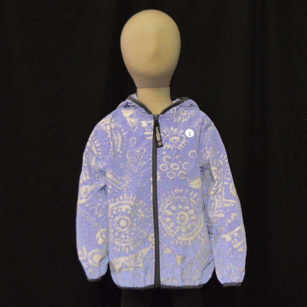 Kids BrightLITE Reflective Windbreaker in African Violet